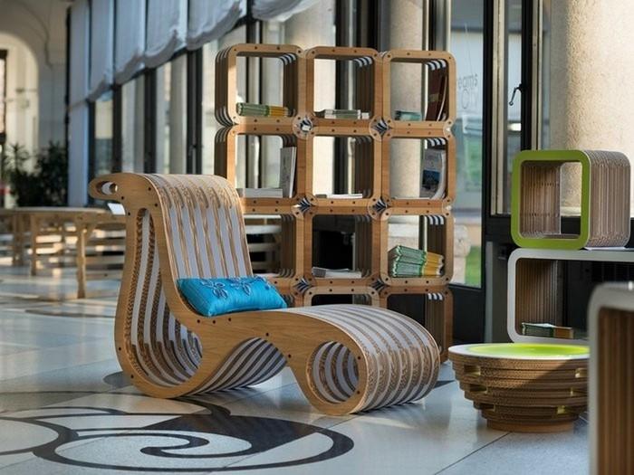 Мебель из картона в интерьере вашего дома 7 (700x525, 95Kb)