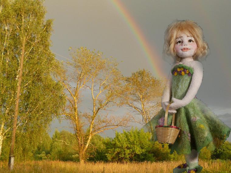 войлочная кукла, кукольная история, кукла в подарок, авторская работа