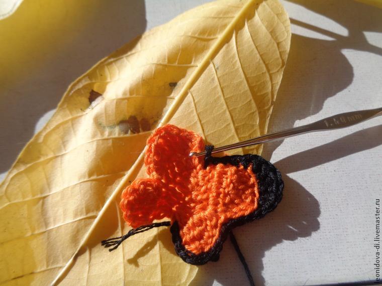 Как связать бабочку крючком, фото № 6