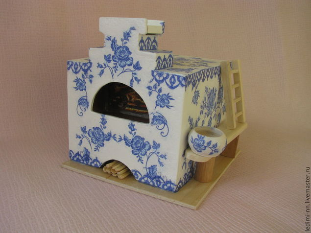 Печка для кукольного домика своими руками 53