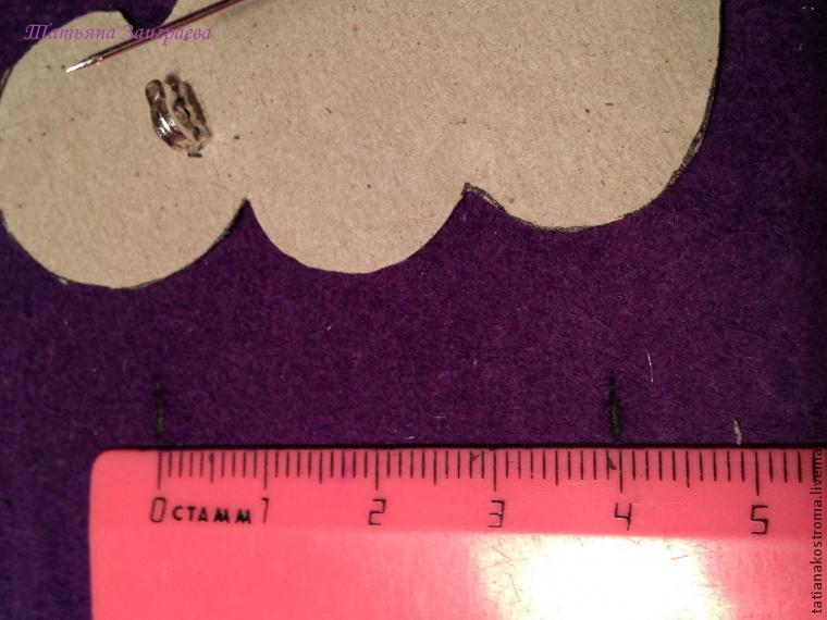 Вышиваем бисером брошь в осенних тонах, фото № 34