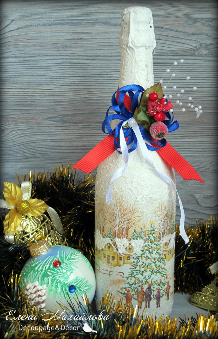 мастер-классы, мастер-классы краснодар, мастерская декора, новогоднее шампанское