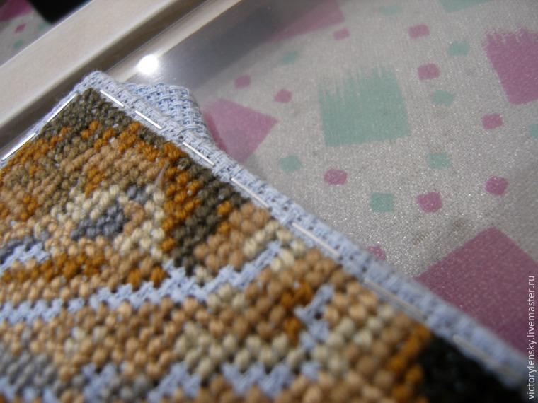 Оформление готовой вышивки в рамку, фото № 6