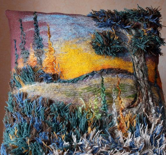 Картины из ткани и ниток фото