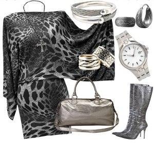 серый, украшение, модно