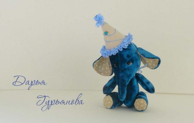 текстильная игрушка, синий, авторская игрушка