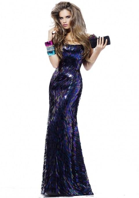Фото вечерних платьев из пайеток