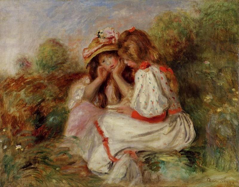 Пьер Огюст Ренуар -  Two Little Girls – 1890