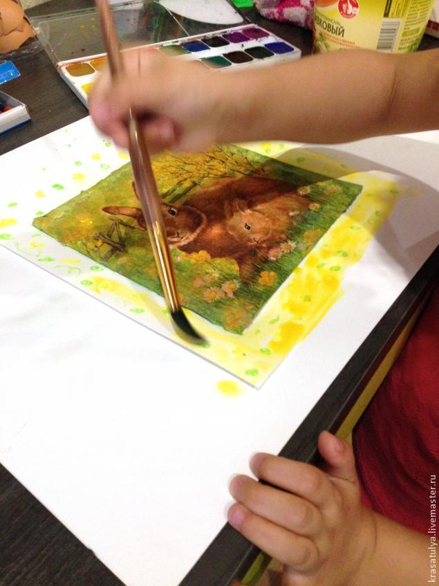 Делаем фреску вместе с детьми, фото № 12