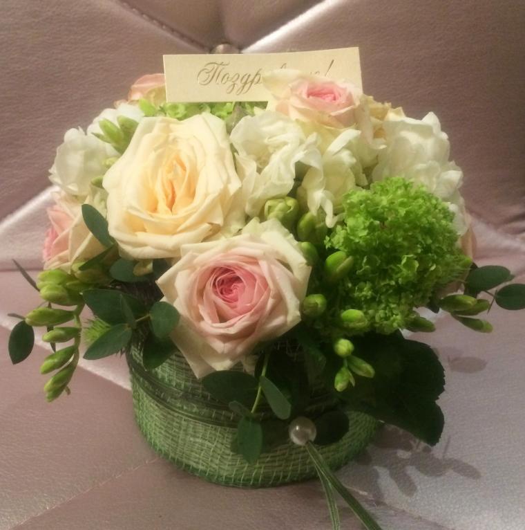 флористика, корзина с цветами, мастер класс флористика