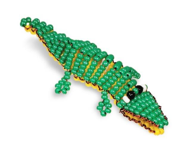 20 янв 2012 Крокодил из бисера.  Мастер класс.  Делать разные изделия из бисера очень кропотливое занятие...