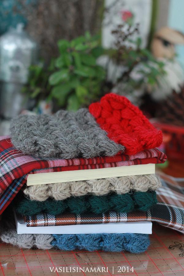 приветствие, блокноты, вязаные блокноты, вязание, рукоделие, ручная работа, авторские изделия, авторские блокноты, vasilisinamari