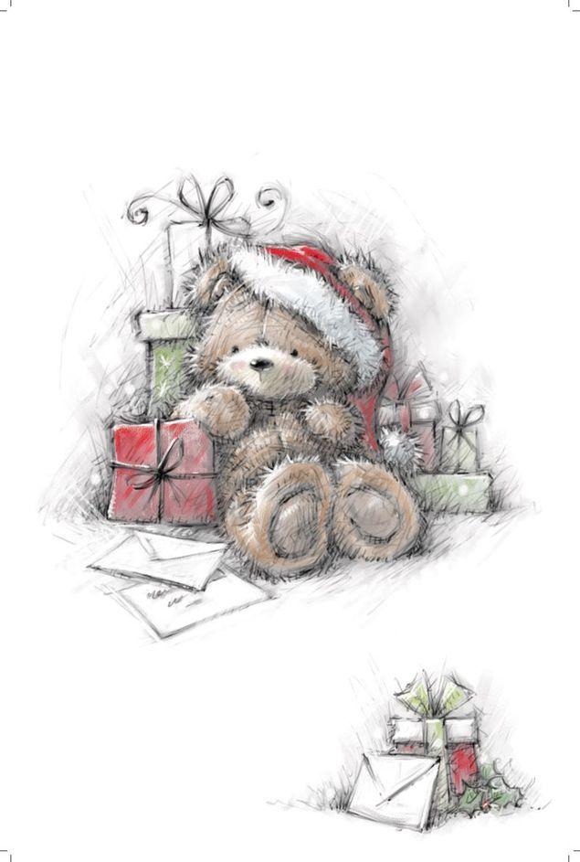 Открытки мишка новый год, открытки любимому зятю