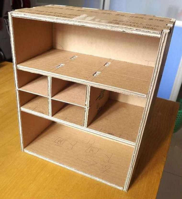 Как сделать для кукол из картона шкаф