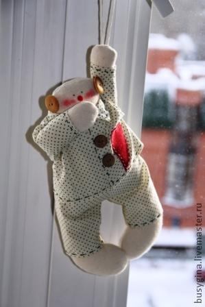 Шиємо піжамного сніговика-тільду