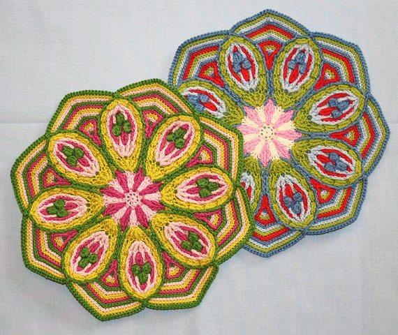 Мандалы вязанные
