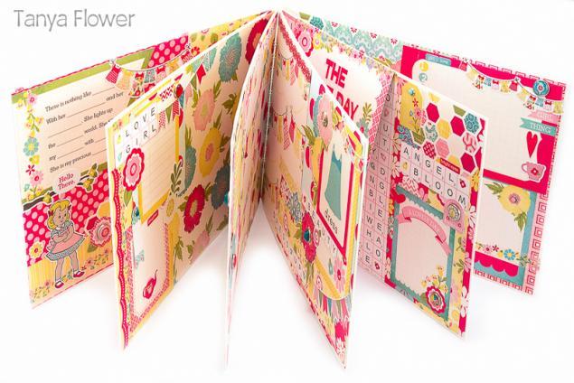 фотоальбом для девочки, детский фотоальбом, красивый фотоальбом, tanya flower, подарок девочке, скрап фотоальбом