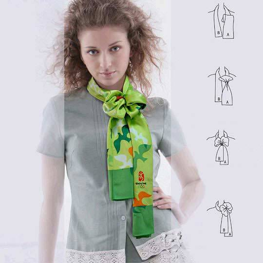 Как красиво завязать платок способов