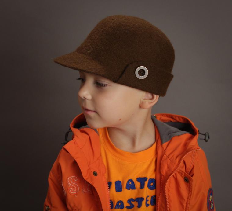 Головные уборы из шерсти: шапочки, шляпки, кепки, береты, фото № 23