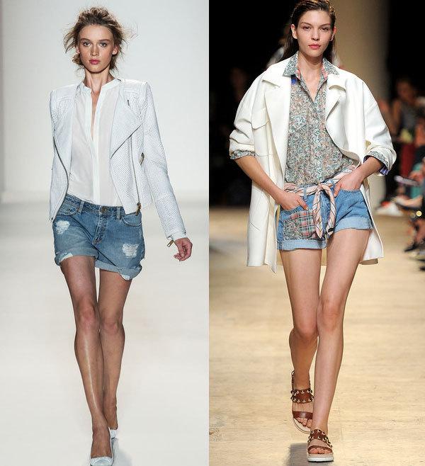 Модные джинсовые шорты весна-лето 2014 от Rachel Zoe и Paul & Joe