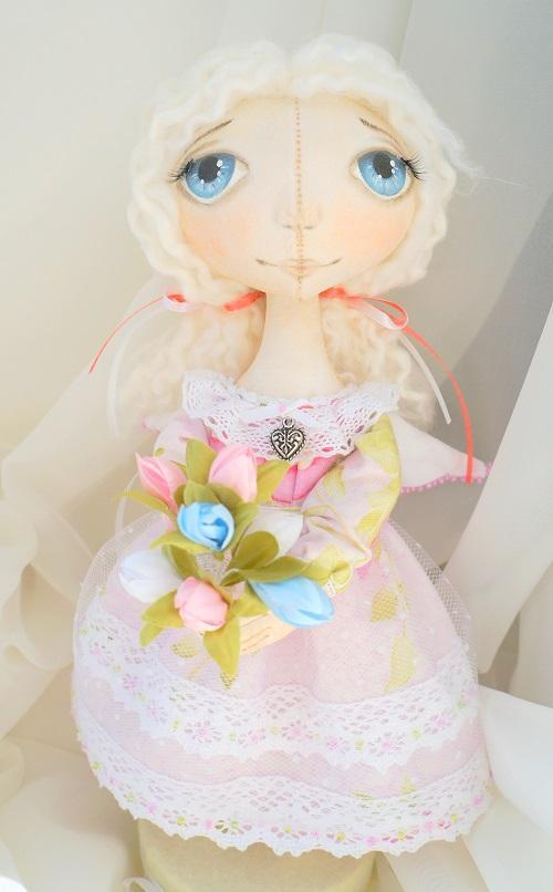 мастер-класс, ангел, текстильная кукла