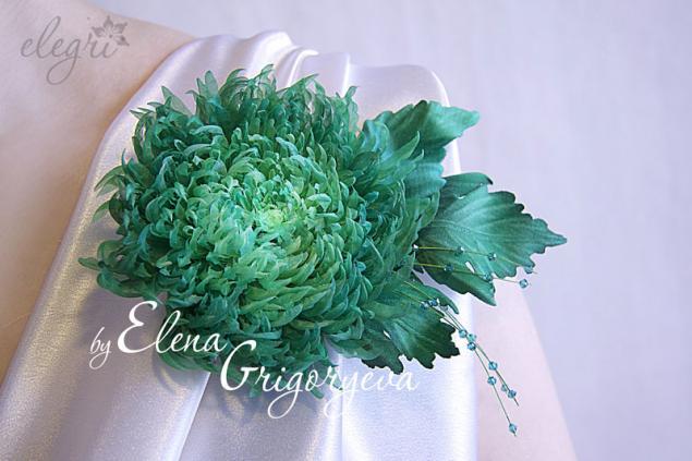 Хризантемы из ткани