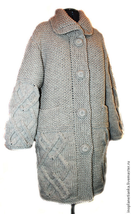 пальто, теплое пальто, вязаное пальто, модное пальто, вязаный кардиган, вязаный жакет, распродажа