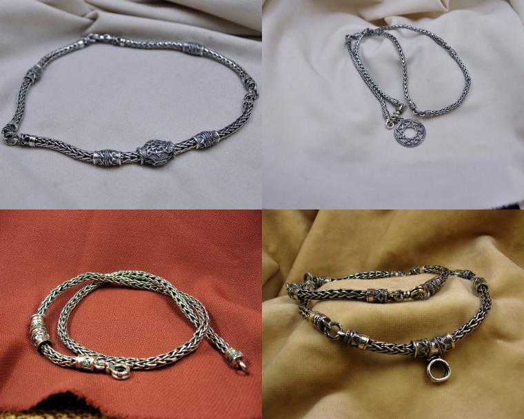 плетение лисий хвост, серебро 925 пробы, серебряные цепь
