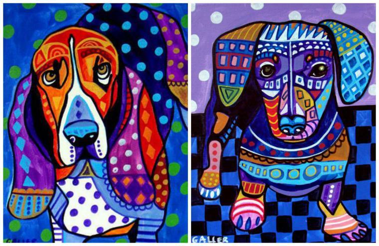 Психоделические собаки Heather Galler: невероятно яркие картины американской художницы, фото № 4