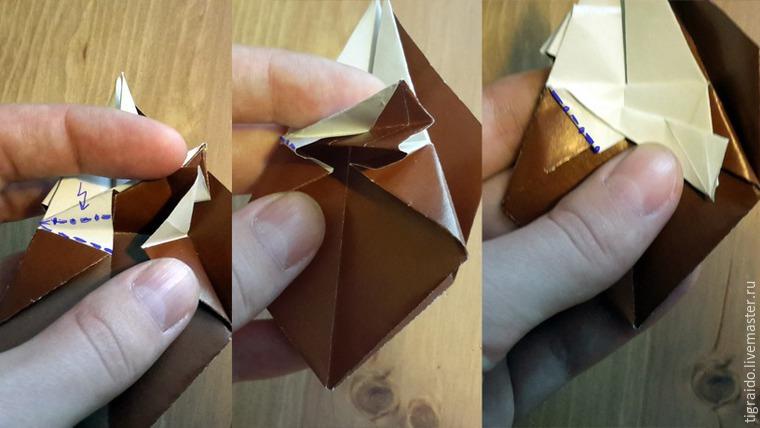 Оригами: пасхальная курочка, фото № 14