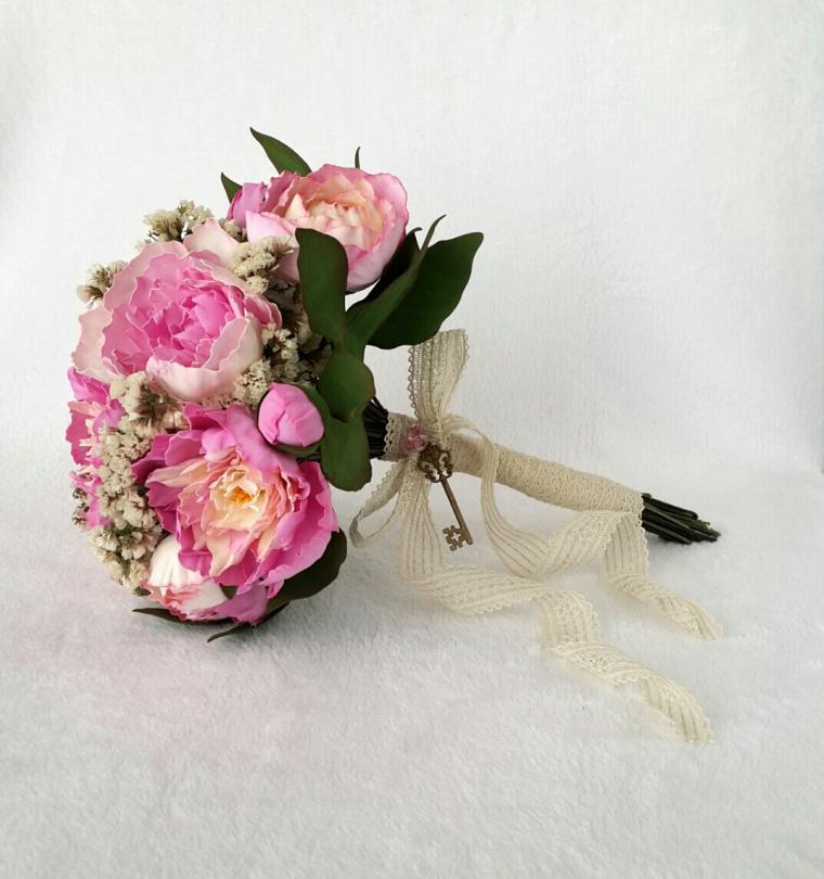 цветы в прическу, пионы