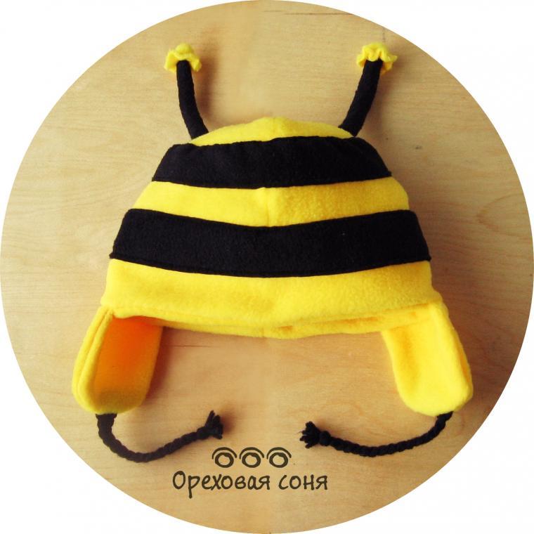 шапка с ушками, шапка детская, для детей, для девочки, необычная шапка, оригинальная шапка, необычный подарок, оригинальный подарок, пчёлка, пчела, пчелка майя, детская одежда, подарок на новый год, подарок на 8 марта, подарок на день рождения, подарок ребёнку, шапка для фотосессии, шапка для фотосессий