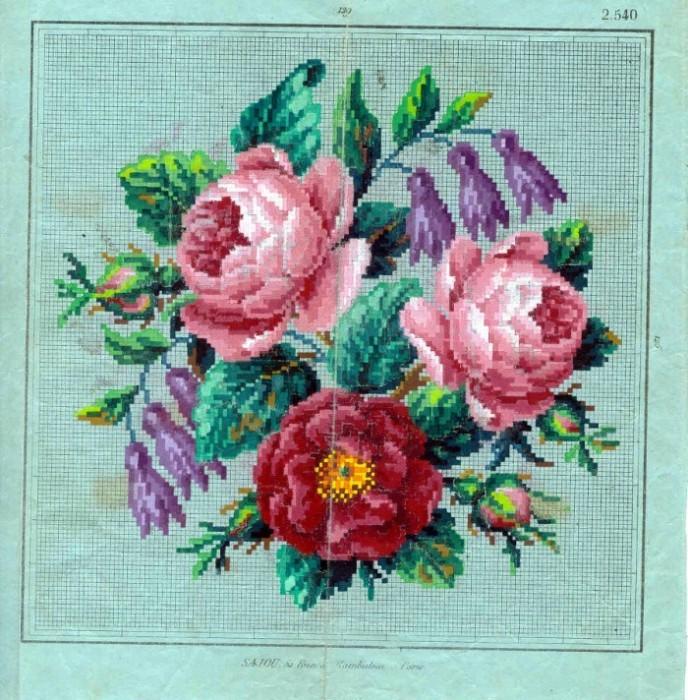 Рисунки старинных вышивок