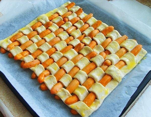 Фото пирога с сосисками