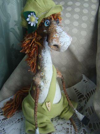лошадка, авторская игрушка