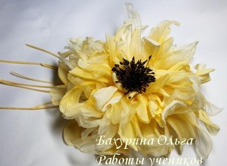 брошь, цветоделие, цветы ручной работы, обучение цветоделию
