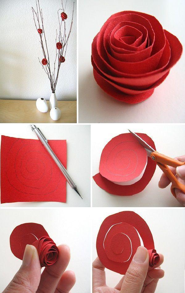 Как сделать цветы из картона своими руками