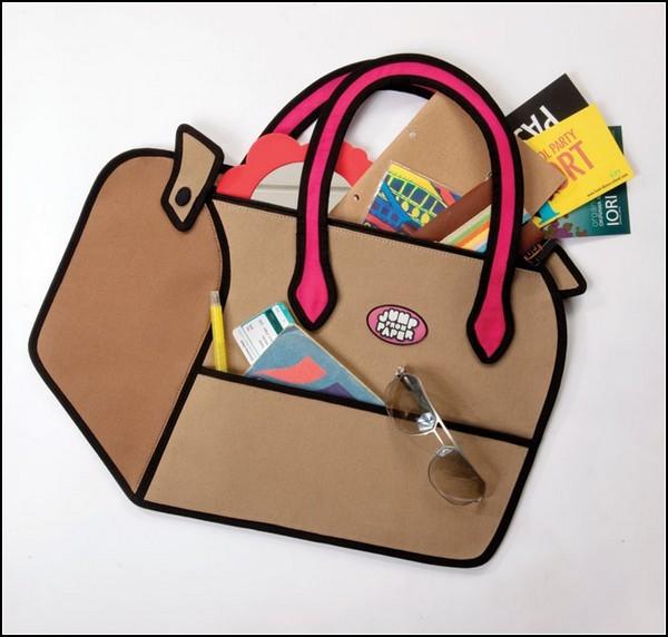 995f8b6d9968 Плоские и яркие сумки Jump From Paper в стиле американских комиксов. Сумок  много не бывает: строгие – для работы, яркие – для прогулок, маленькие  клатчи для ...