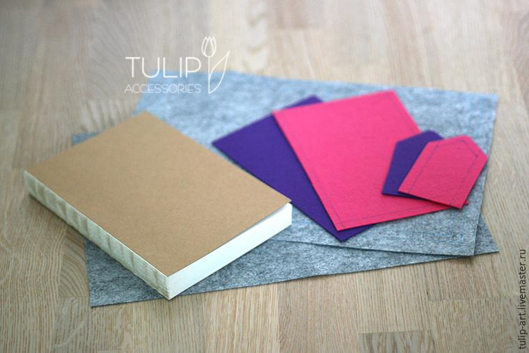 Have a master notebook in felt cover