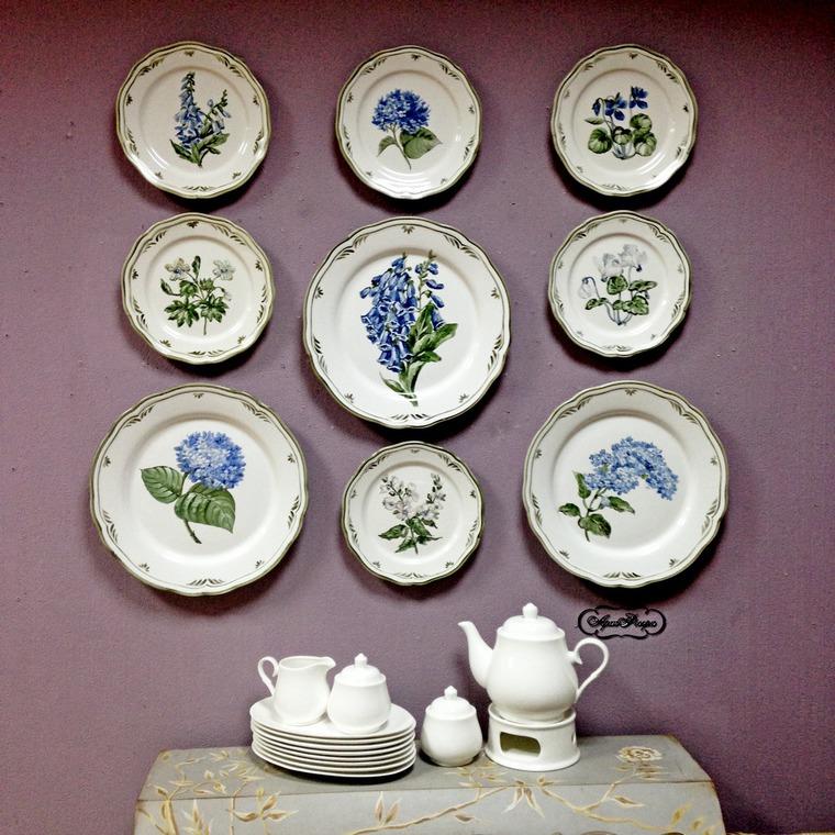 Декорирование стен тарелками, фото № 20