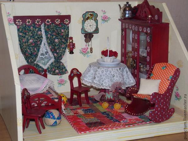 Часы-ходики из спичечного коробка в кукольный дом, фото № 11