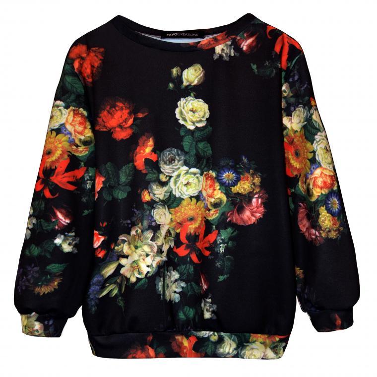 свитшот, акция, дизайнерская одежда, дизайнерские вещи, sale, кофта, платье, свитер, цветочный принт, барочный принт