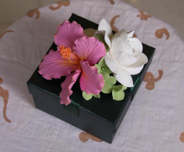 мастер-класс, мастер-класс по лепке, мастер-классы, полимерная глина, новогодний мастер класс, подарочная коробочка, учимся лепить, лепка из глины, лепка цветов, япония, цветы ручной работы, цветы из полимерной глины, обучение, обучение лепке