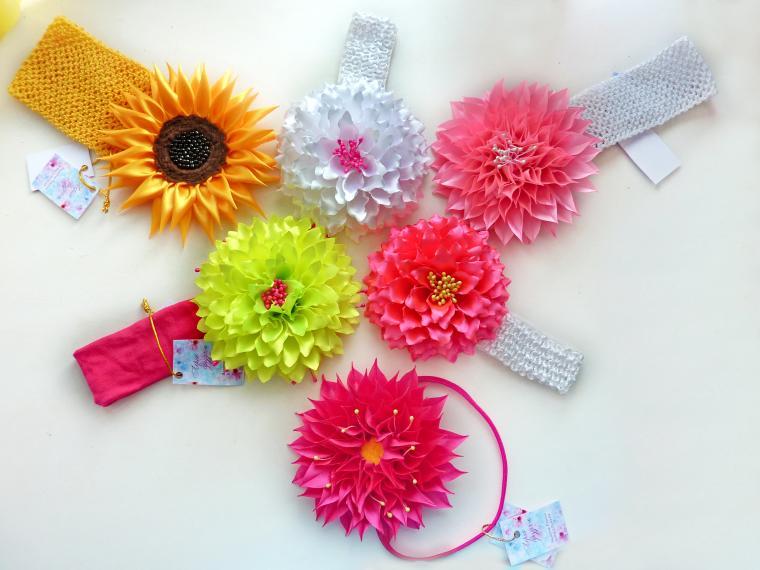 аксессуары для волос, цветы, повязки на голову, летние