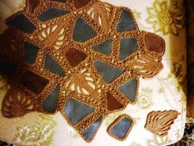 Вязание из кожи фото