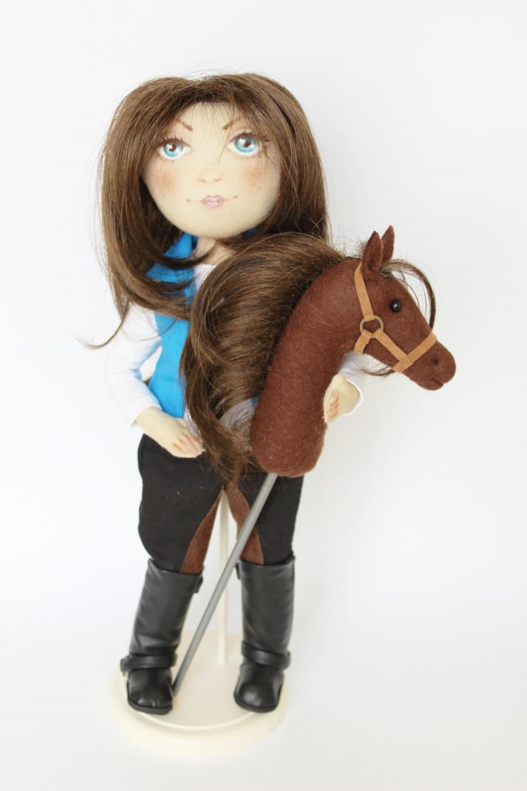 наездница, кукла с лошадью, кукла в подарок
