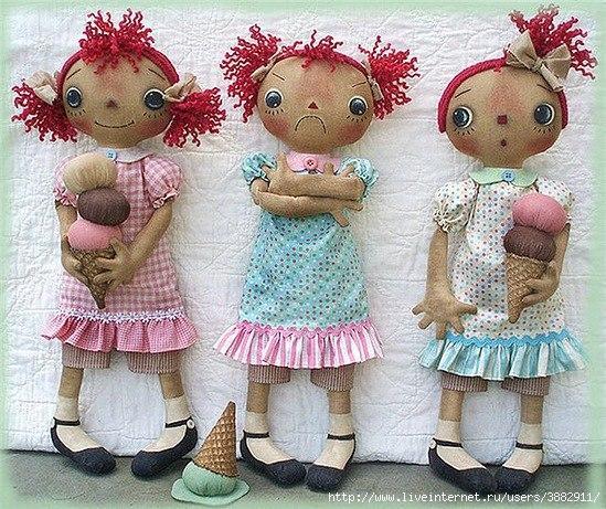 Выкройка чердачной куклы своими руками