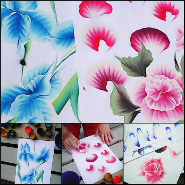 обучение росписи, розы