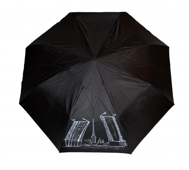 зонт, новинка магазина, мужской зонт, складной зонт, зонт с росписью, зонт с рисунком, недороой подарок, санкт-петербург