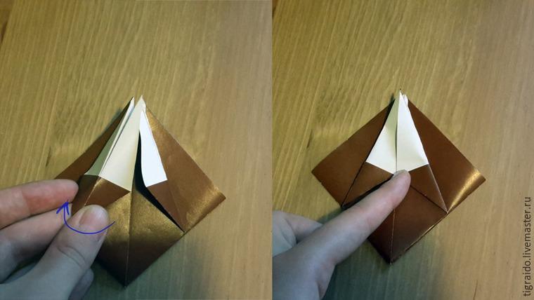 Оригами: пасхальная курочка, фото № 7